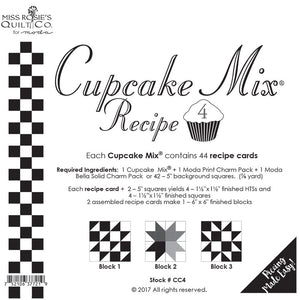 Pattern, Miss Rosie's Quilt Co. - CUPCAKE Mix Recipe #4