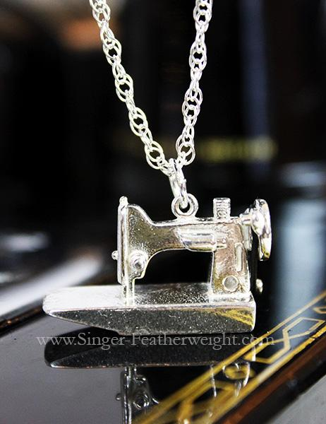 Jewelry, Singer Featherweight 221 Sterling Silver, NECKLACE