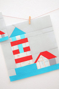 Pattern, Nautical Lighthouse Quilt Block by Ellis & Higgs (digital download)