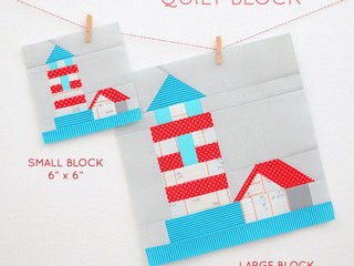 Load image into Gallery viewer, Pattern, Nautical Lighthouse Quilt Block by Ellis & Higgs (digital download)