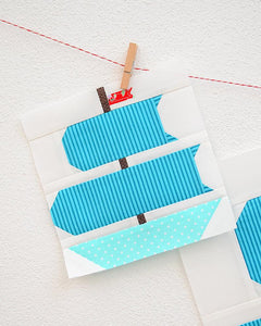 Pattern, Nautical Sail Boat Quilt Block by Ellis & Higgs (digital download)
