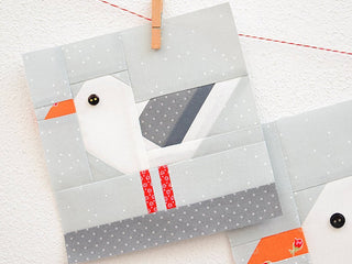 Load image into Gallery viewer, Pattern, Nautical Sea Gull Quilt Block by Ellis & Higgs (digital download)