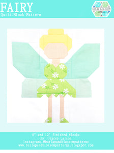 Pattern, Fairy Quilt Block by Burlap and Blossom (digital download)
