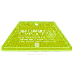 "Missouri Star SMALL Half Hexagon Template Ruler for 5"" Squares and Jelly Rolls"