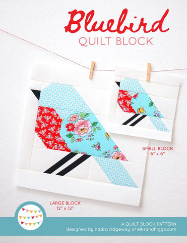 Pattern, Bluebird Quilt Block by Ellis & Higgs (digital download)