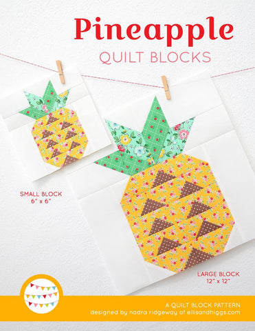 Pattern, Pineapple Quilt Block by Ellis & Higgs (digital download)