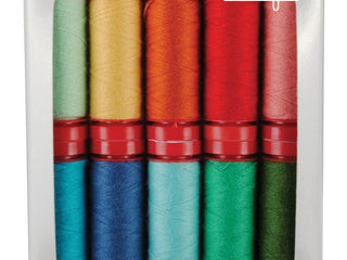 Load image into Gallery viewer, Aurifil Thread 12wt, 10 Color SET - Lori Holt PREMIUM WOOL THREADS