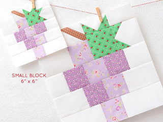Load image into Gallery viewer, Pattern, Grapes Quilt Block by Ellis & Higgs (digital download)