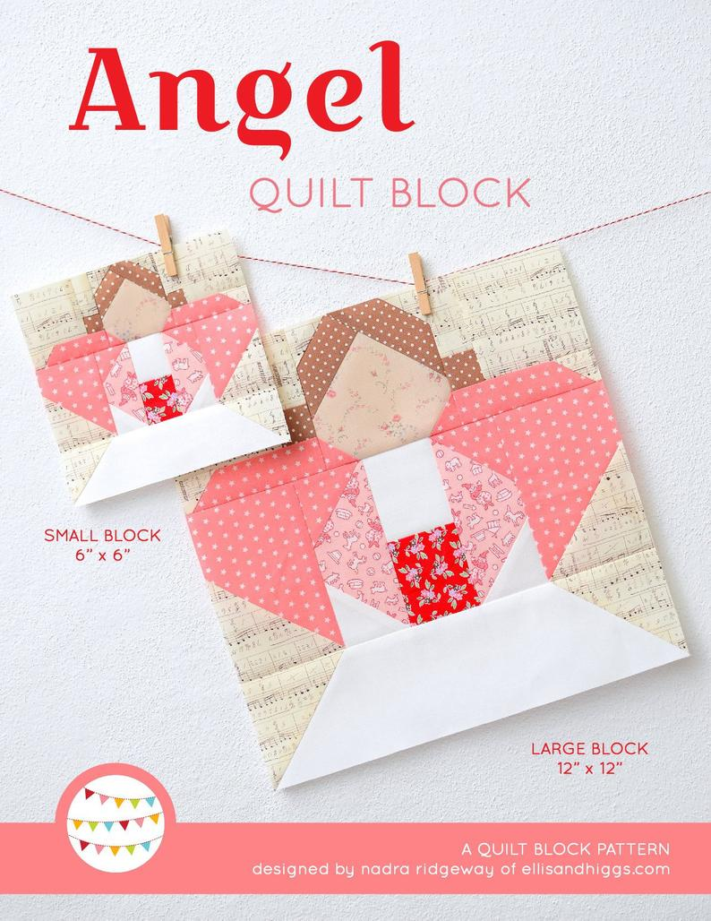 Pattern, Angel Quilt Block by Ellis & Higgs (digital download)
