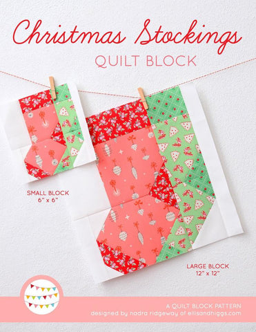 Pattern, Christmas Stockings Quilt Block by Ellis & Higgs (digital download)