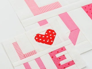 Load image into Gallery viewer, Pattern, LOVE Valentine Quilt Block by Ellis & Higgs (digital download)