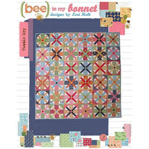 PATTERN, Bee in my Bonnet Tumble Dry Quilt Pattern by Lori Holt