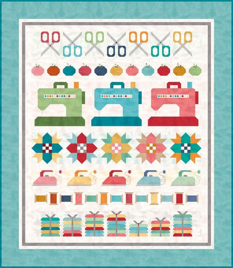 PATTERN BOOKLET, Sew By Row by Lori Holt