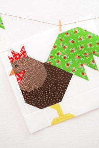 Pattern, Rooster Quilt Block by Ellis & Higgs (digital download)