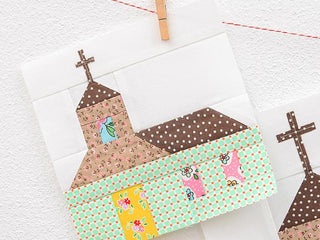 Load image into Gallery viewer, Pattern, Church (with Cross) Quilt Block by Ellis & Higgs (digital download)