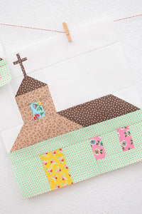 Pattern, Church (with Cross) Quilt Block by Ellis & Higgs (digital download)