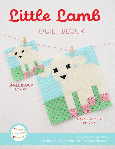 Pattern, Little Lamb Quilt Block by Ellis & Higgs (digital download)