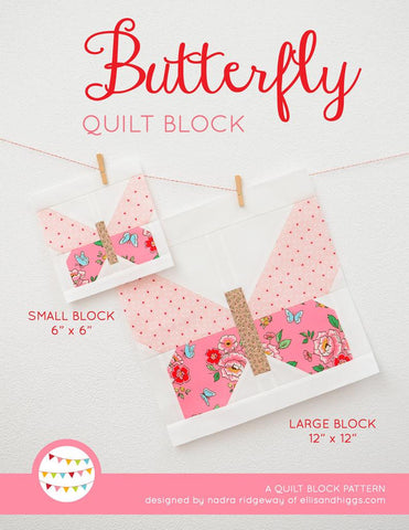 Pattern, Butterfly Quilt Block by Ellis & Higgs (digital download)