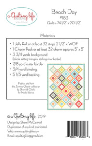 PATTERN, A Quilting Life Designs by Sherri McConnell - BEACH DAY #183