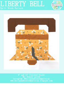 Pattern, Liberty Bell Quilt Block by Burlap and Blossom (digital download)