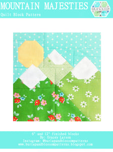 Pattern, Mountain Majesties Quilt Block by Burlap and Blossom (digital download)