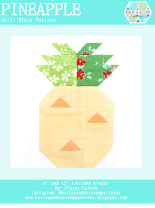 Pattern, Pineapple Quilt Block by Burlap and Blossom (digital download)