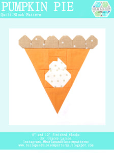 Pattern, Pumpkin Pie Quilt Block by Burlap and Blossom (digital download)
