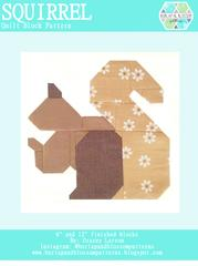 Pattern SET, Autumn Fall Cozy Themed Quilt Blocks by Burlap and Blossom (digital download)