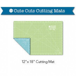 "Cutting Mat, 12"" x 18"" Lori Holt Cute Cuts Reversible (Green & Blue)"