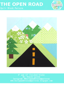 Pattern, The Open Road Quilt Block by Burlap and Blossom (digital download)