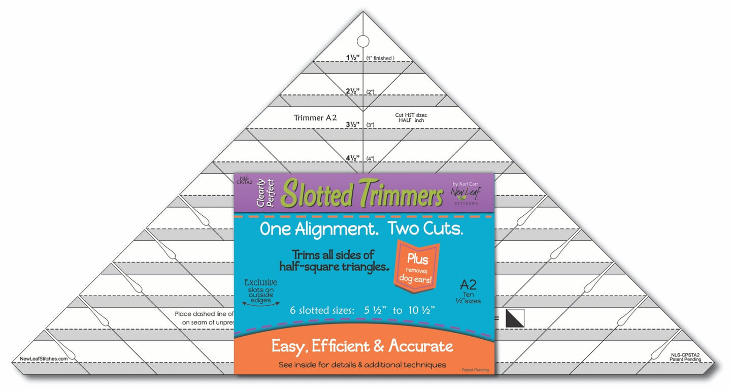 Slotted Trimmer Ruler by New Leaf Stitches, B2 LARGER SIZE