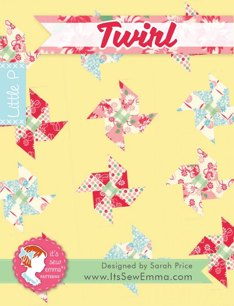 PATTERN, Twirl Quilt Pattern by It's Sew Emma