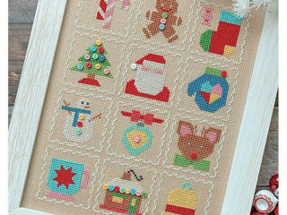 Load image into Gallery viewer, Counted Cross Stitch, It's Sew Emma Pattern by Lori Holt - VINTAGE CHRISTMAS SAMPLER