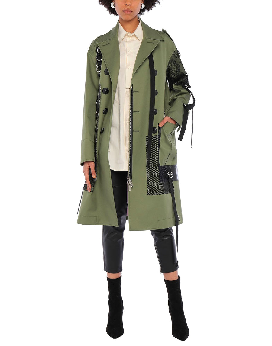 DSQUARED2 WOMEN MILITARY COAT ARMY