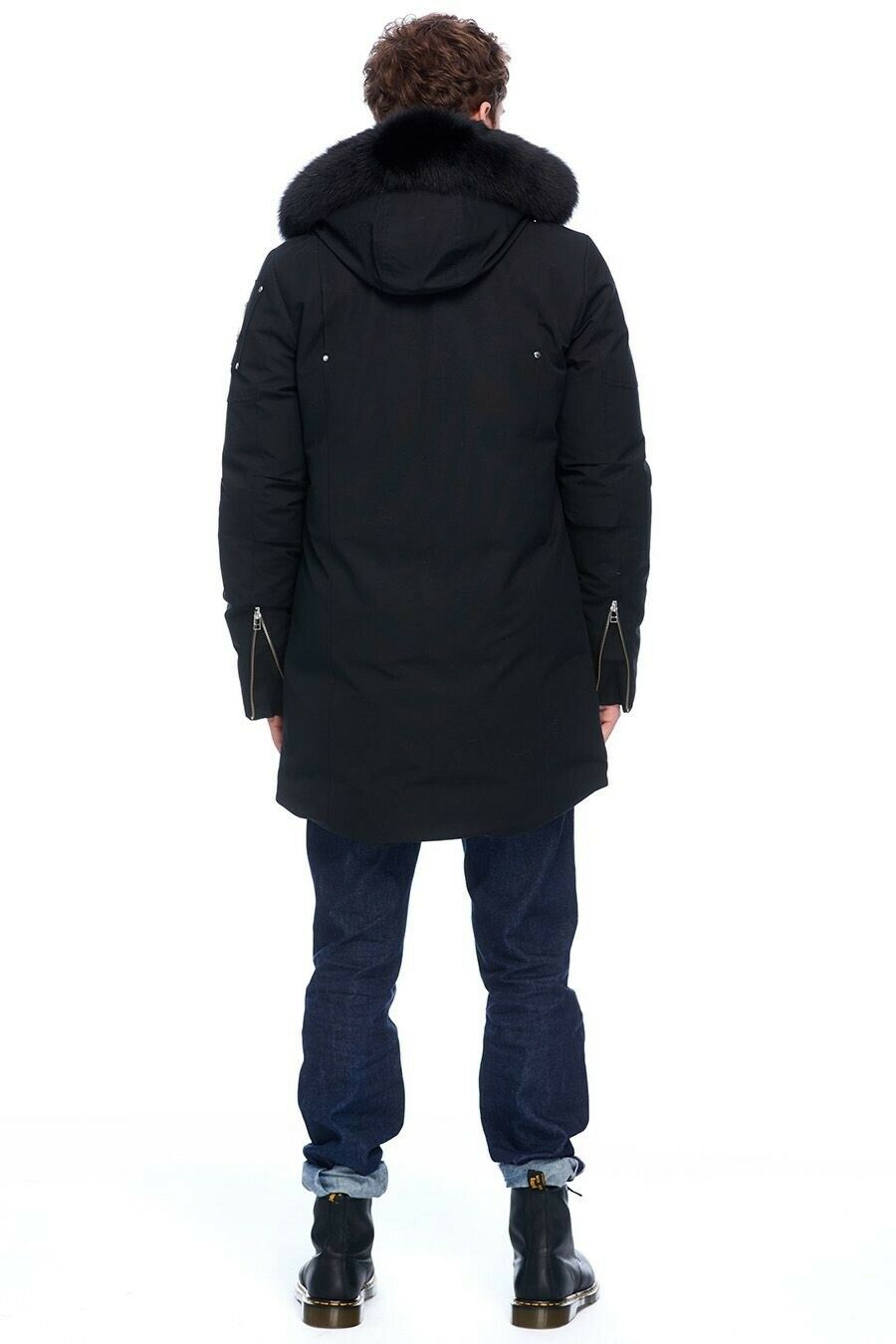 MOOSE KNUCKLES STIRLING PARKA BLACK W/ BLACK