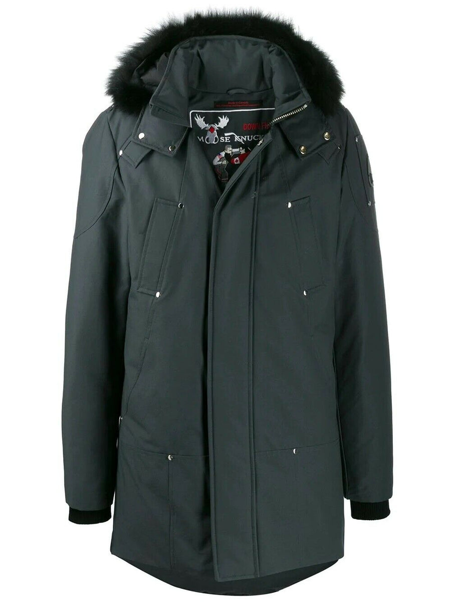 MOOSE KNUCKLES STIRLING PARKA GRANITE W/ BLACK