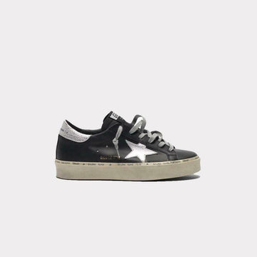 GOLDEN GOOSE HI STAR SNEAKER METALLIC STAR BLACK