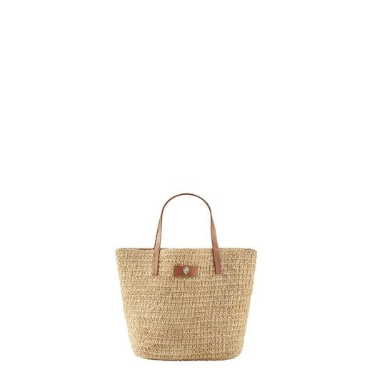 HELEN KAMINSKI DAVOLETTA MINI RAFFIA BAG NATURAL/TAN