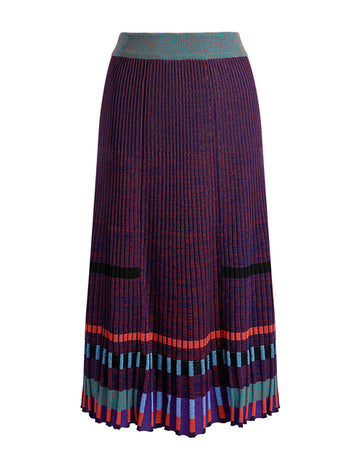 KENZO PLEATED KNIT SKIRT