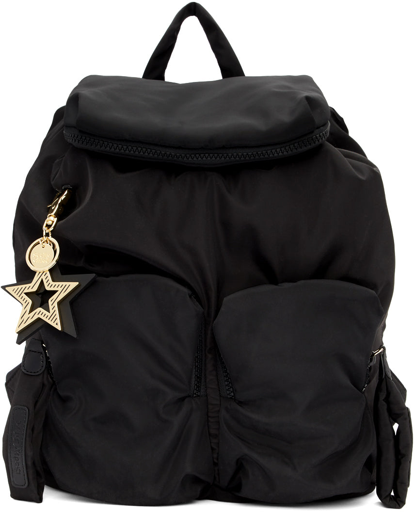 SEE BY CHLOE JOY RIDER ZIPPED POCKETS BACKPACK