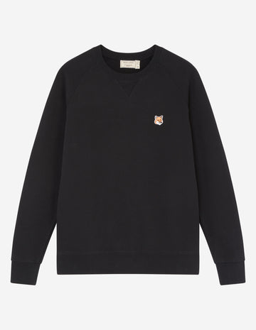 MAISON KITSUNE FOX HEAD PATCH CLASSIC SWEATSHIRT BLACK