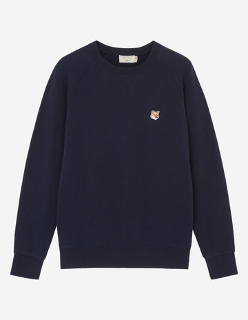 MAISON KITSUNE FOX HEAD PATCH CLASSIC SWEATSHIRT NAVY