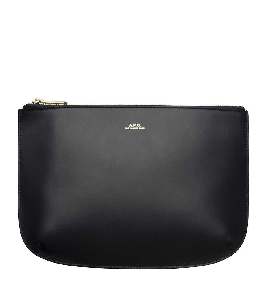 A.P.C. SARAH CLUTCH DARK NAVY