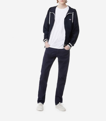 MAISON KITSUNE HOODED WINDBREAKER NAVY