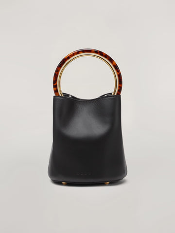 MARNI PANNIER BUCKET BAG BLACK