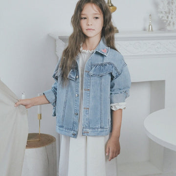 ROANJANE FRILL DENIM JACKET