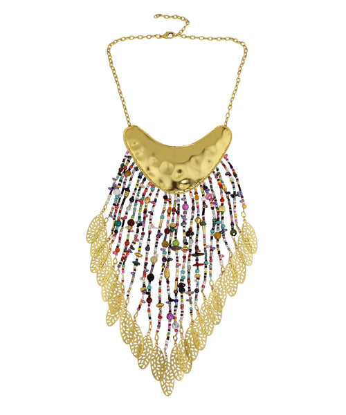 18k Bronze Waterfall Statement Necklace