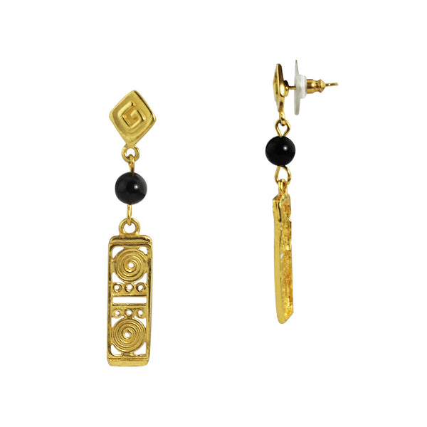 18k Bronze Gemstone Earrings