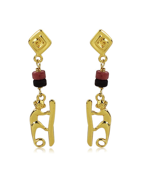 18k Bronze Carino Monkey Earrings