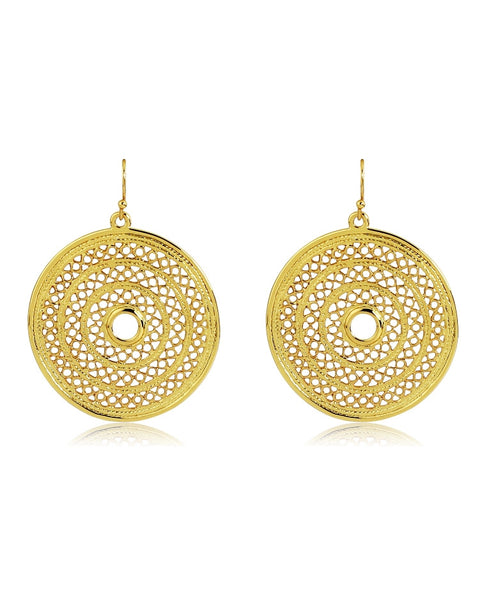 18k Bronze Spiral Earrings